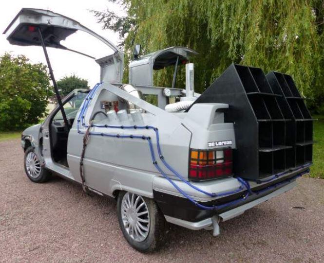 Piden 300 euros por este Citroën BX convertido en DeLorean: ¡Regreso al futuro en un diésel!
