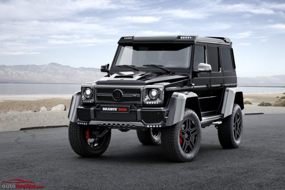 500 CV y un exterior de infarto para el mastodóntico y salvaje Mercedes G500 4×4² de BRABUS