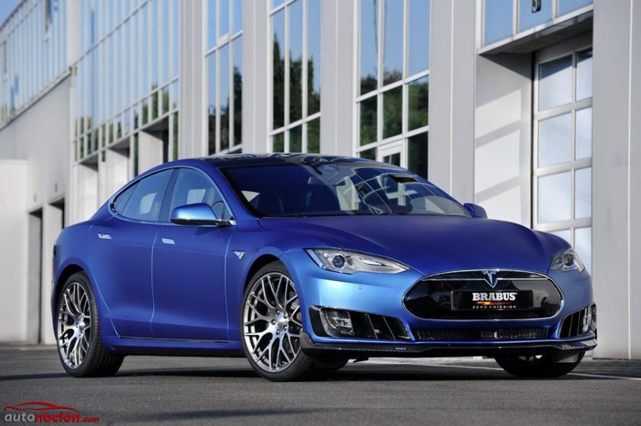 BRABUS también se atreve con el Model S: Dieta rica en fibra y una estética imponente para la berlina