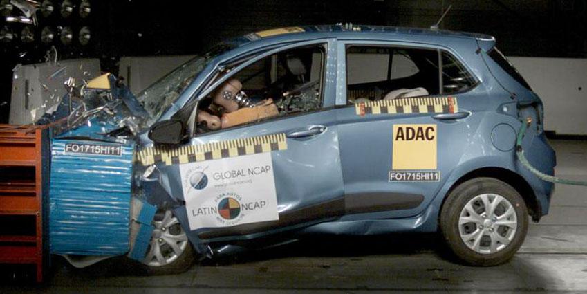 El Hyundai Grand i10 es un auténtico peligro: Cero estrellas en las pruebas de choque