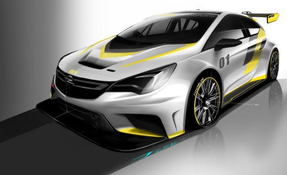 Opel Astra TCR: Un 2.0 con casi 330 CV para el carreras cliente de Opel Motorsport y Kissling