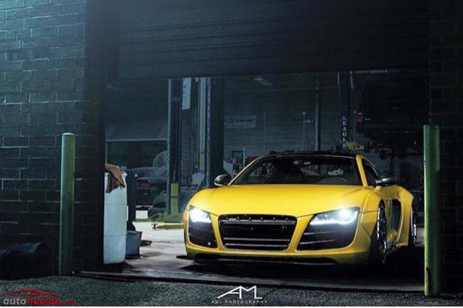 El Audi R8 ya tiene una preparación obra de Liberty Walk y la veremos en el SEMA Show