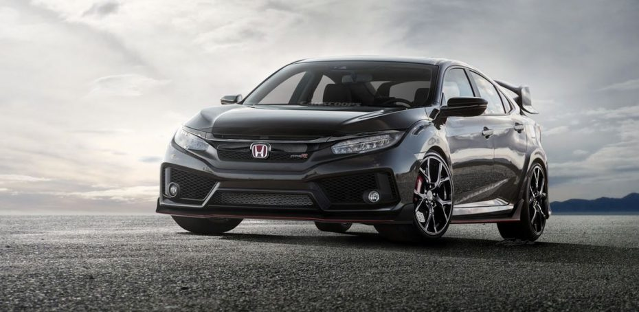 Ojo a este render del Honda Civic Type R 2017 estadounidense: Creado sobre la base de las primeras fotos espía