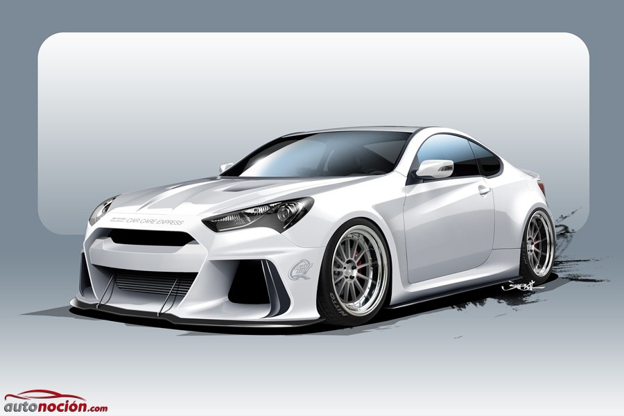 Hyundai Solus Genesis Coupé: Más de 500 CV para enfrentarse a los RC F y M4 en el SEMA Show