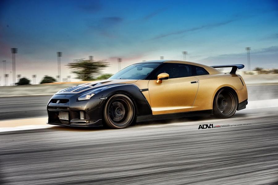 Godzilla se viste de oro: Así de pintón es el Nissan GT-R creado por ADV.1
