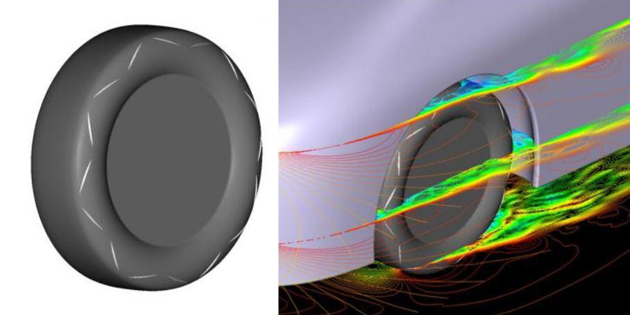 Yokohama apuesta por la aerodinámica de sus neumáticos: Ojo, el neumático del futuro llevará protuberancias en los flancos…