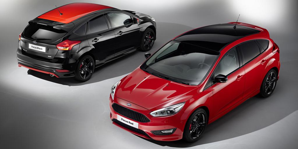 Nuevos Ford Focus Black&Red y Red&Black: Un toque de color para el compacto; hasta 182 CV