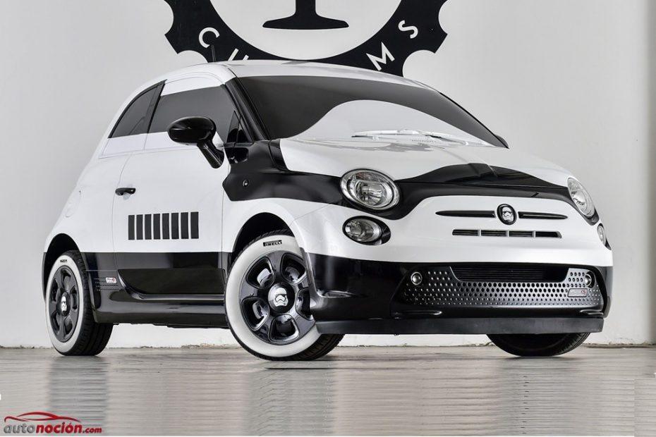 Si te pasas al lado oscuro de la Fuerza, hazlo a bordo de este Fiat 500e Stormtrooper