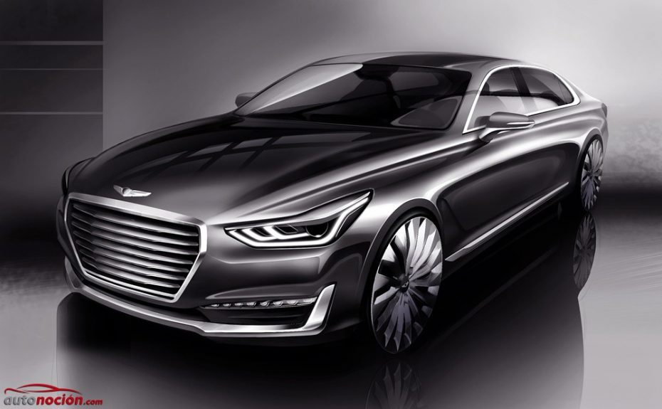 Primeros teasers del Genesis G90: La nueva marca de lujo muestra tímidamente su futuro buque insignia
