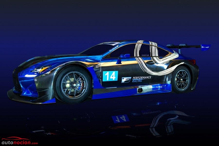 El regreso de Lexus a la competición será por todo lo alto: Así de salvaje luce el Lexus RC F GT3