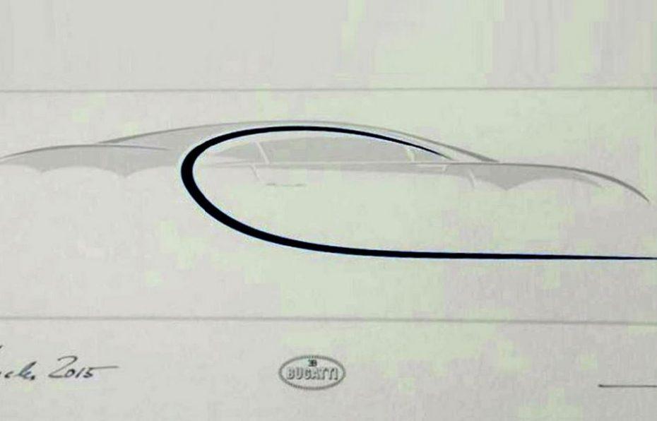 Esta es la silueta del Bugatti Chiron: Revelada en un documento oficial de la marca…