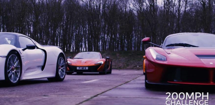Piden más de 10.000 euros por conducir el Ferrari Laferrari, el McLaren P1  y el Porsche 918 Spyder en un evento único…