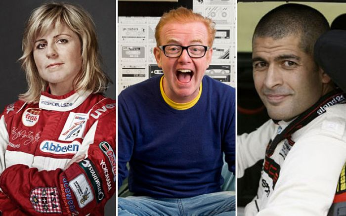 Chris Harris, David Coulthard y Sabine Schmitz