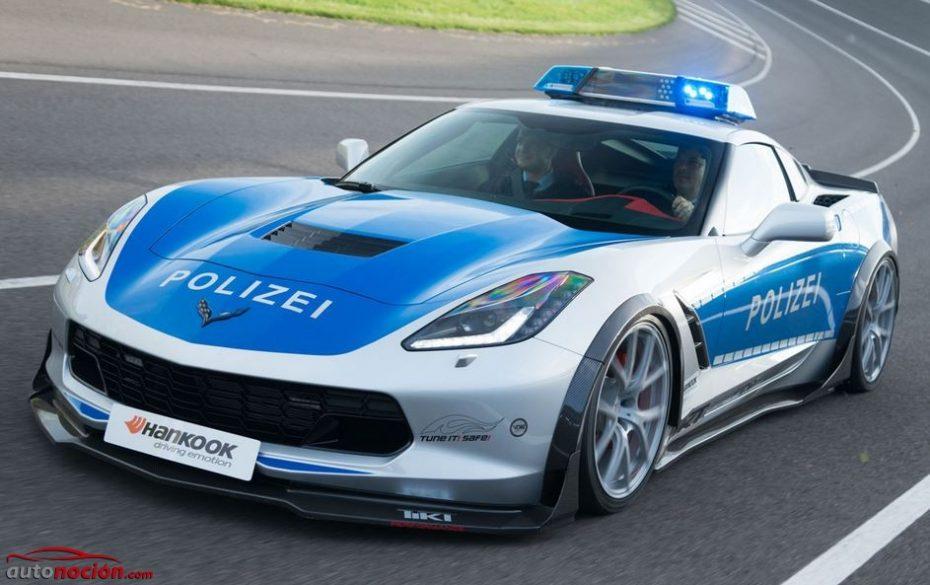 """El Corvette C7 Stingray se viste con """"traje de luces"""": No es lo que crees, es un coche de la Polizei…"""