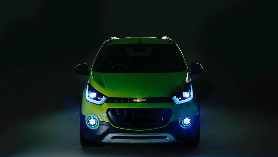 Primera imagen del Chevrolet Beat Cross: Se presentará en la India