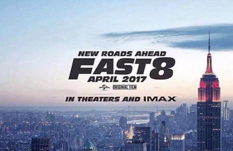Vin Diesel revela el cartel de Fast and Furious 8: Se estrenará el 14 de abril de 2017