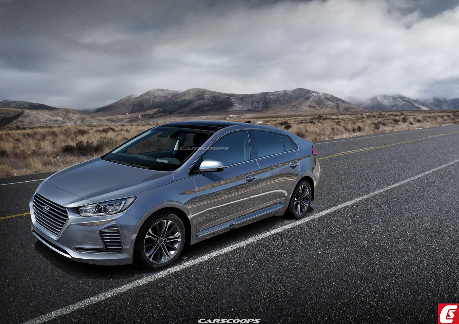 Render del Hyundai IONIQ por Carscoops