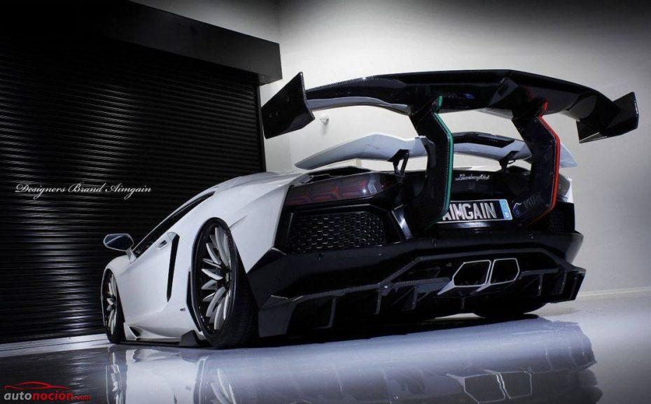 Ojo a este brutal Lamborghini Aventador: ¿Alerón o tabla de snow? ¡Benditas locuras japonesas!