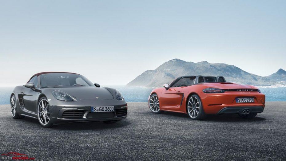 Porsche 718 Boxster y Boxster S: Llegan los cuatro cilindros turbo con más potencia, más diversión y menos consumos