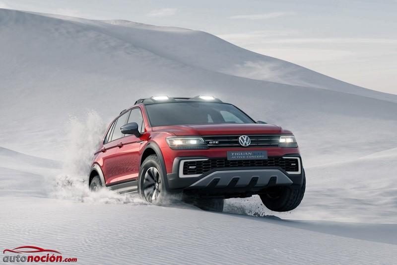 Volkswagen Tiguan GTE Active Concept: La cara más híbrida y campera del nuevo Tiguan