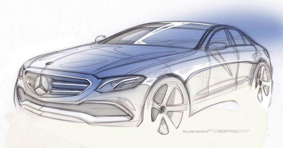 Aquí tenemos el primer boceto que revela el diseño exterior del nuevo Mercedes Clase E