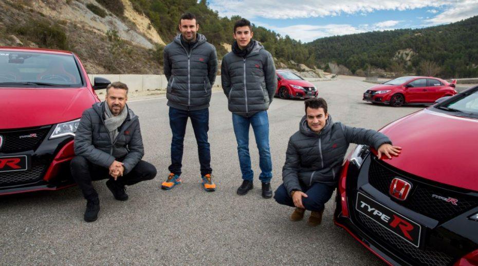 Y de regalo, un Honda Civic Type R para el «día a día» de Márquez, Pedrosa, Bou y Monteiro
