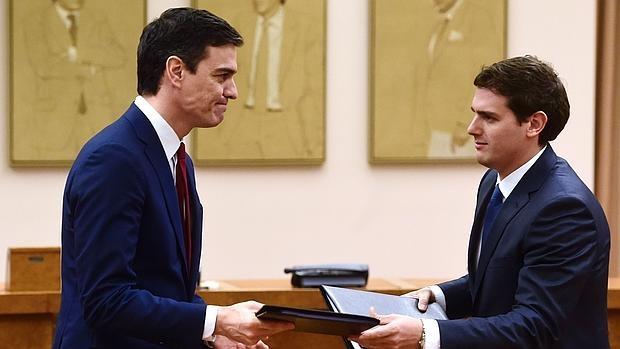 Pacto PSOE y Ciudadanos