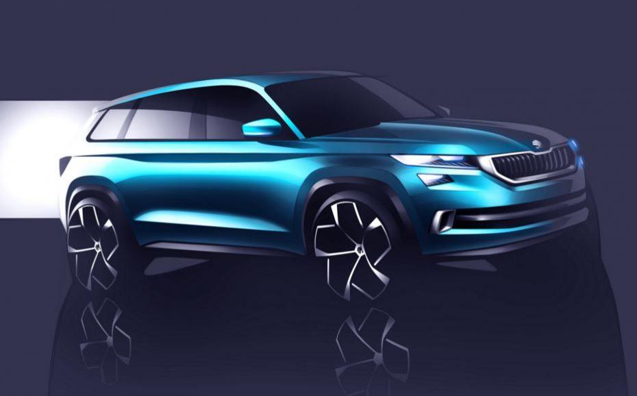 ŠKODA VisionS: El enemigo del SUV de SEAT en camino, este es el aspecto preliminar y ojo, con 6 plazas