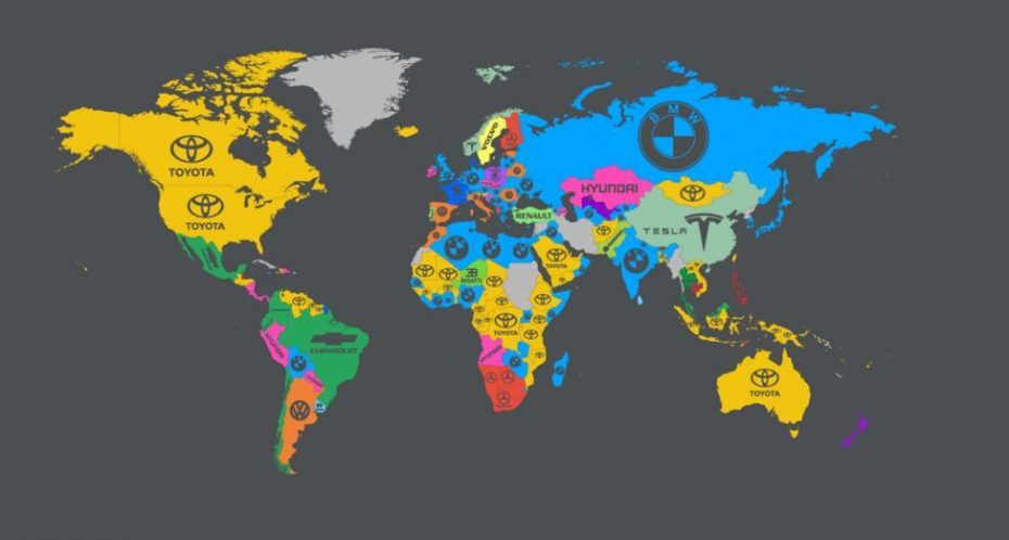 Estas son las marcas de coches más buscadas en Google país por país: Nuestros gustos en la red