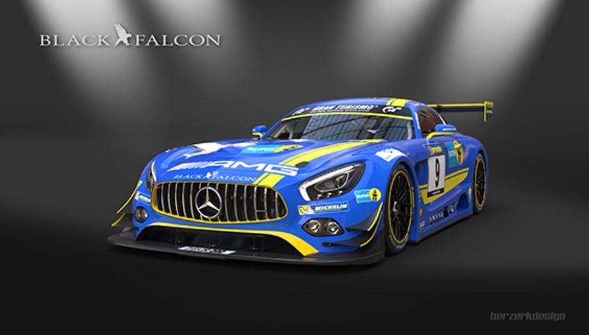 El AMG GT3 empieza a ser decorado por los equipos: Ojo a este de Black Falcon y Bilstein