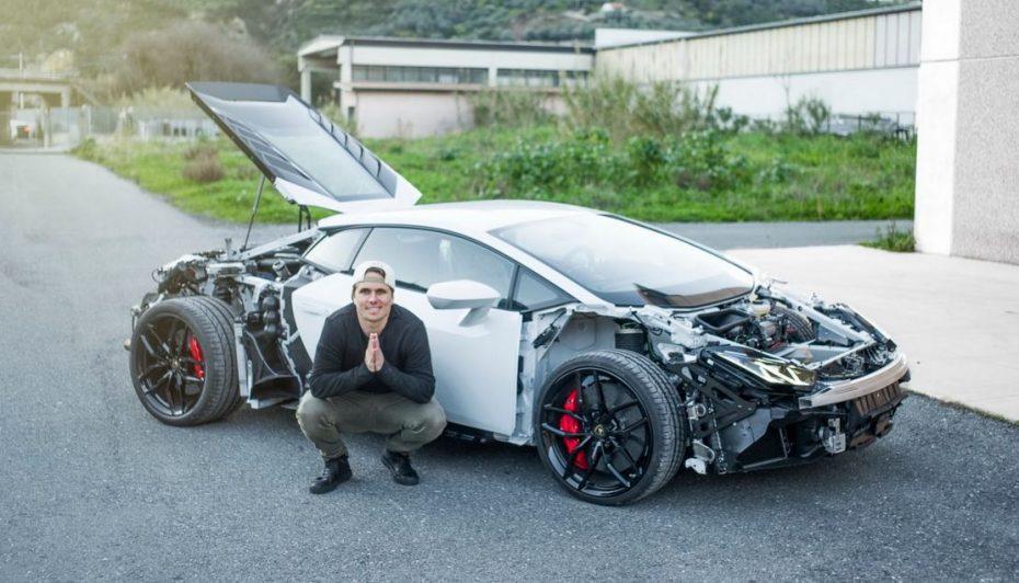 El alocado Jon Olsson ya tiene nuevo proyecto: ¿Desnudando un Lamborghini Huracan?