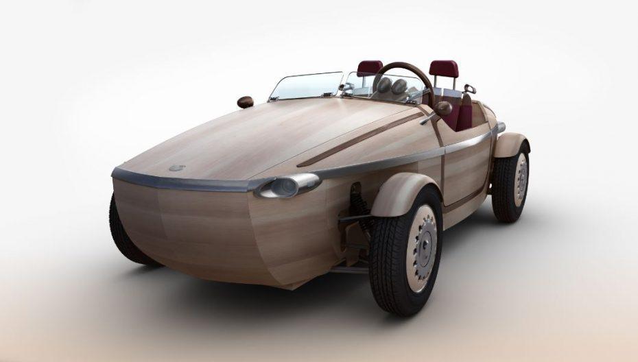 ¿Un biplaza eléctrico de madera?: Sí, es un prototipo de Toyota…