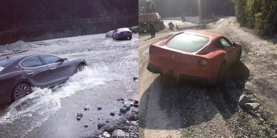 ¡Para llorar! La dolorosa historia del empresario chino que se fue de rally con un Ferrari F12 y 10 Ghibli