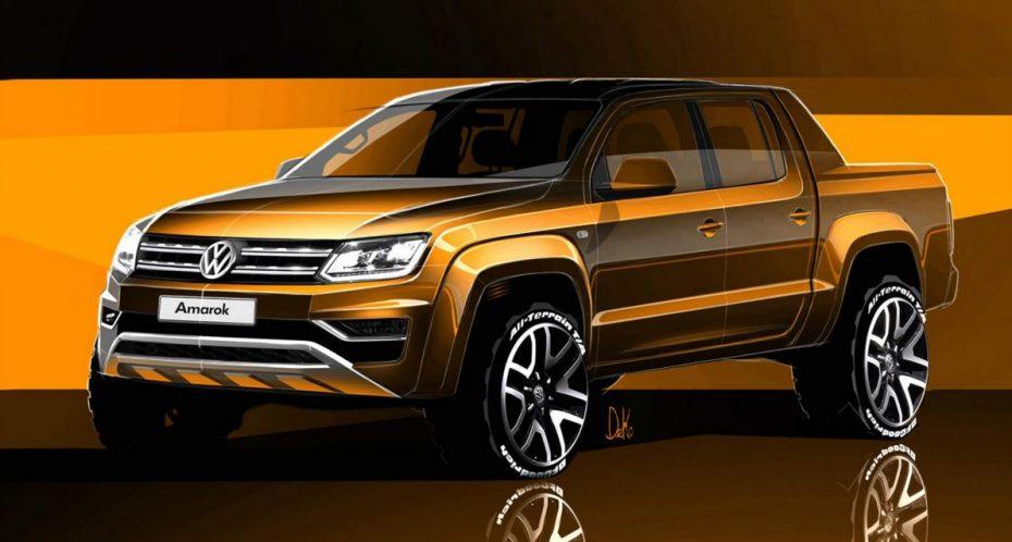 El Volkswagen Amarok recibirá una actualización: Aquí los primero bocetos…