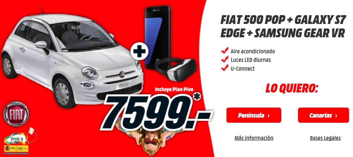 Sólo hasta el 4 de mayo, llévate un Fiat 500 por sólo 7.599 € en MediaMarkt
