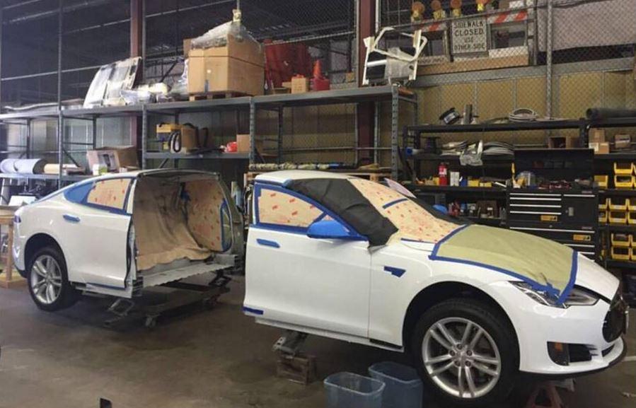 ¿Cortar un Tesla Model S por la mitad?: Tranquilo, es para un interesante proyecto…