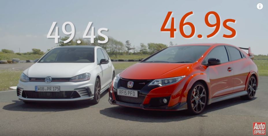 Ojo, Auto Express dice que el Honda Civic Type R supera de sobra al Golf GTI Clubsport S…