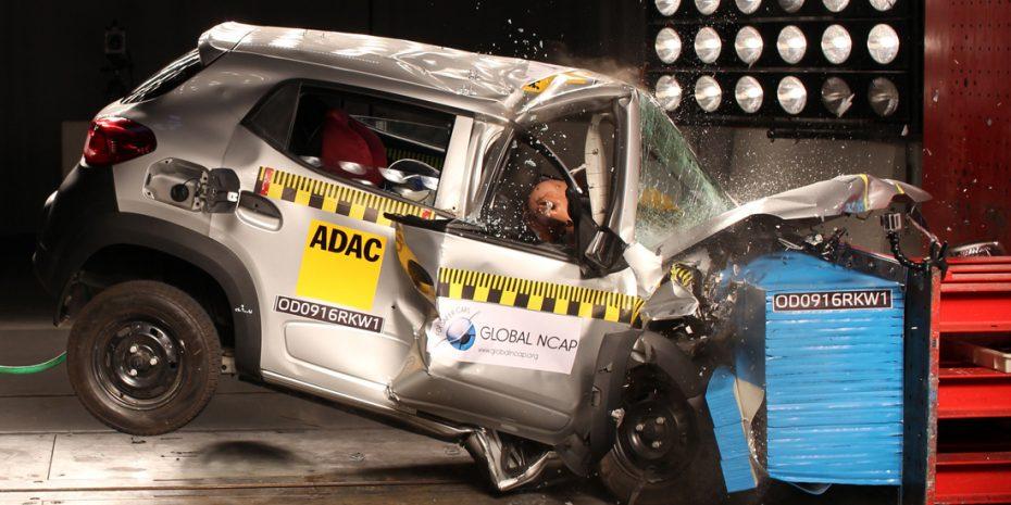 El Renault Kwid es un súper ventas con cero estrellas en los test de choque