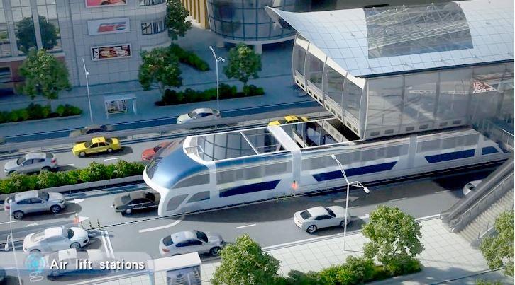 Olvídate de los autobuses al uso, en el futuro te pasarán por encima con 1.400 personas a bordo