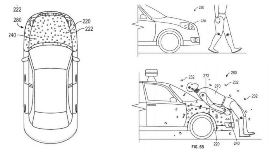 Esto no es una broma, es una patente: ¿Pegar a los peatones en el capó?