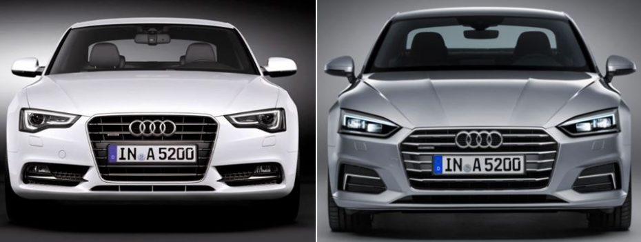 Comparación visual: Juzga tú mismo, esto es lo que ha cambiado el Audi A5 coupé