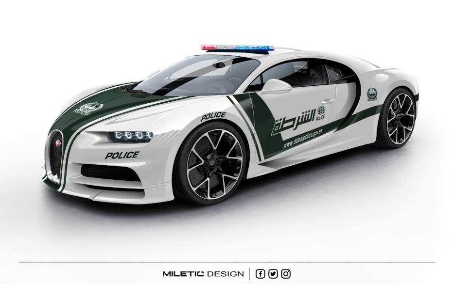 Bugatti Chiron dubai police 1