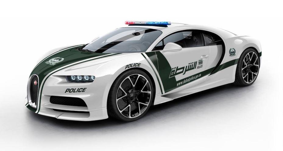¿1500 CV y 1600 Nm de par al servicio de la policía?: Así quedaría el Bugatti Chiron policial
