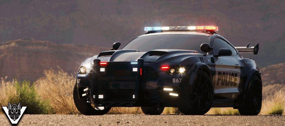Barricade estrenará traje para la nueva película de Transformers: El Mustang de policía evoluciona