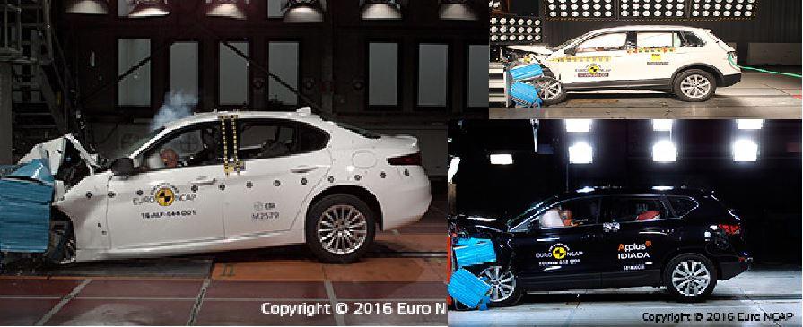 Alfa Romeo Giulia, SEAT Ateca y Volkswagen Tiguan se enfrentan a las pruebas de choque: Ojo con el Giulia…