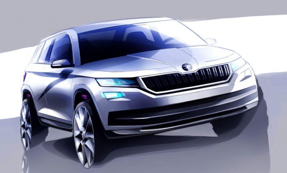 """Škoda nos da algunos detalles más del KODIAQ, su """"SUV grande"""": ¿Ingredientes del Superb en un SUV con 7 plazas opcionales?"""