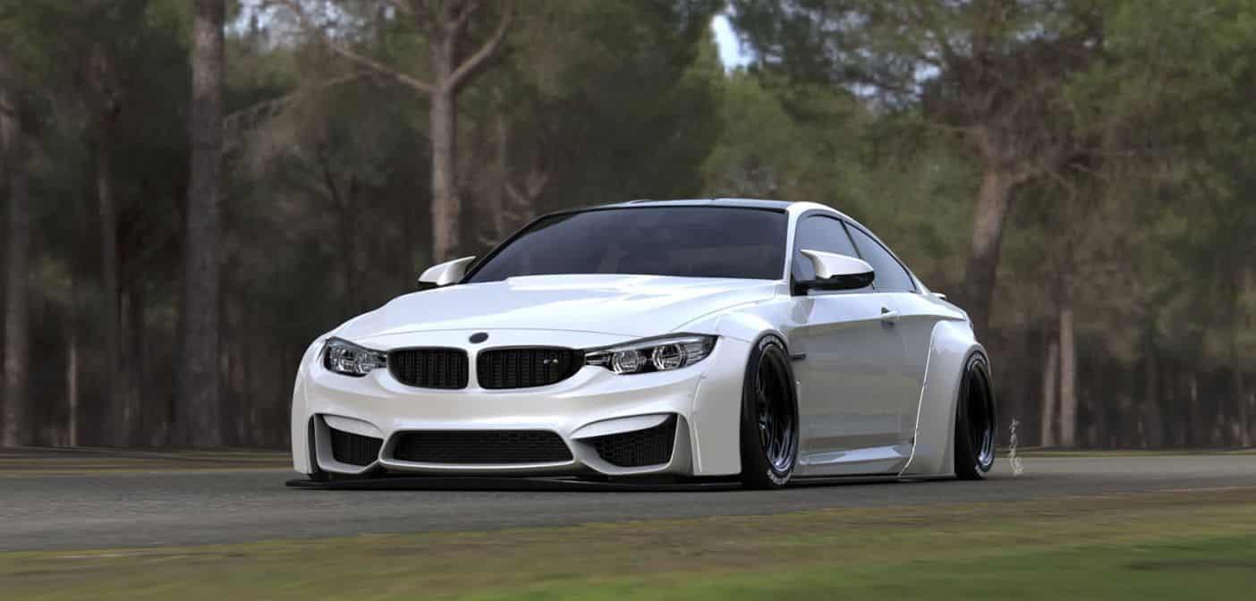¡Liberty Walk vuelve a la carga!: Atento a su salvaje BMW M4 con esteroides