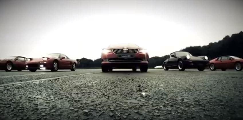 ¡Vaya anuncio!: Skoda Superb Combi TSI 280 CV; ¿Mejor que un NSX, un 308 GTB, un Esprit y un Countach?