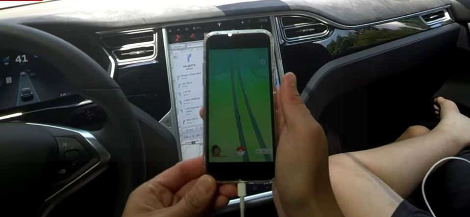 Tesla Model X Pokemon Go