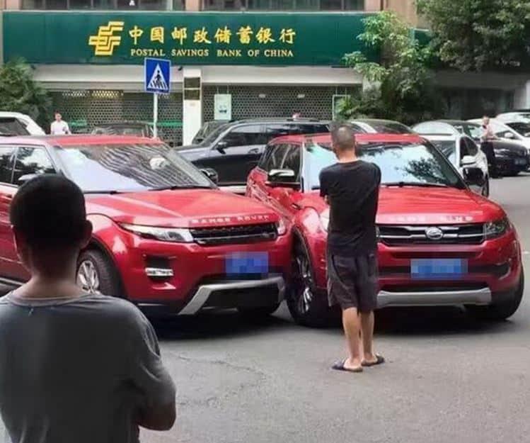 ¡Vaya tela!: Ya es casualidad chocar contra la copia china de tu Evoque…